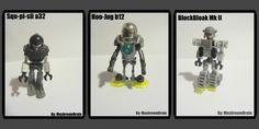 mini LEGO Bots by MushroomBrain.deviantart.com on @DeviantArt Lego Bots, Lego Stuff, Deviantart, Baseball Cards, Mini