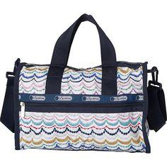 LeSportsac Small Weekender Dimple Ribbon LeSportsac Fabric Handbags