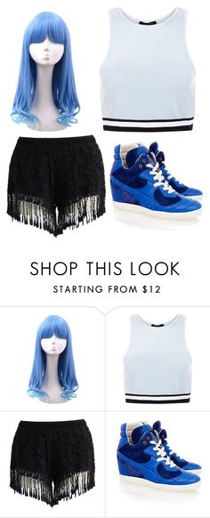 """Untitled #39"" by kwon-jaylin ❤ liked on Polyvore featuring New Look, Chicwish and Puma"