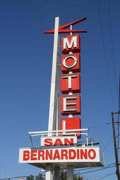 Route 66 Motel sign - San Bernardino, California