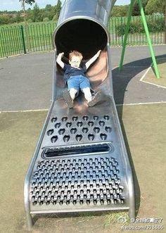 Spiky slide