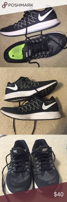 womens Nike zoom Pegasus 32 running shoes Nike Zoom Pegasus 32 running shoes! Worn a good bit of times but still in very good condition and have a lot of wear left in them. Love these shoes but I am a size 9 so they're a little big on me Nike Shoes Sneakers