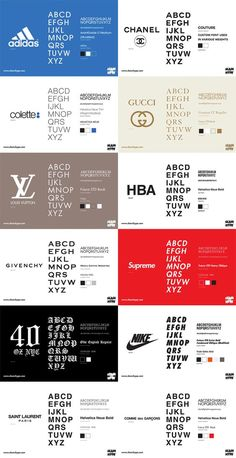 Some of the best brands in the world and they use the most simple fonts.: