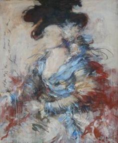 "Saatchi Art Artist Mandy Racine; Painting, ""After Gainsborough - Mrs S"" #art"