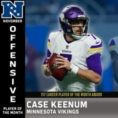 81bc11343 NFC Offensive Player of the Month (November)  Case Keenum