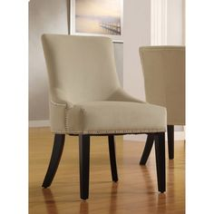 Westmont Sandstone Beige Velvet Decorative Chairs (Set of 2) | Overstock.com Shopping - The Best Deals on Dining Chairs