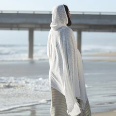White Hooded Poncho White Hooded Cape Cowl Neck Hoodie | Etsy