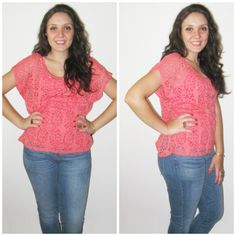 Blusa Chelsea de malha com recortes à laser! #malha #blusa #coral #laser #recorte #tendencia #verao