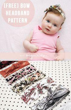 Free baby girl bow headband pattern