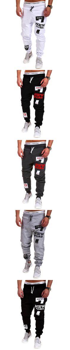 Mens Joggers Male Trousers Men Pants Mallas Hombre Hip-Hop Printing Letters Sweatpants Jogger 3XL