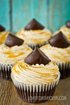 Caramel Cookie Brownie Cupcakes