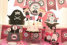 Blog My Little Party - Ideas e Inspiración para Fiestas: Fiesta de Piratas para niñas con mucho estilo