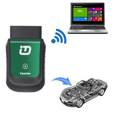 Tdintel Vpecker EasyDiag 16Pin Wifi Diagnostic Tool For Jeep/Gmc/Cherysler/Buick/BMW/Ford/Kia Support Engine/ Airbag/ ABS Function (Support Windows System Only)