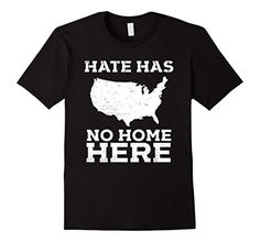 """Mens Hate Has No Home Here Anti Nazi Political Protest T-shirt  Stand up and speak out against hate and bigotry in America with this, """"Hate Has No Home Here"""" political protest shirt, featuring a graphic of the United States! Perfect for a protest, rally, march, fighting for justice and resisting hate! resist shirt, anti trump shirt, no fascist usa, resist hate, resist trump, anti racist shirt, anti racism shirt, no nazi shirt, antifascist shirt, anti-fascist shirt, antifa shirt, anti nazi…"""