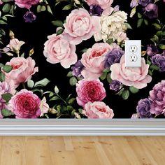 Vintage Floral Wallpaper, Removable Floral Wallpaper, Vintage Wallpapers, Vintage Pink Wallpaper, Vintage Wallpaper Rolls,Adhesive Wallpaper by RockyMountainDecals on Etsy https://www.etsy.com/listing/398670705/vintage-floral-wallpaper-removable