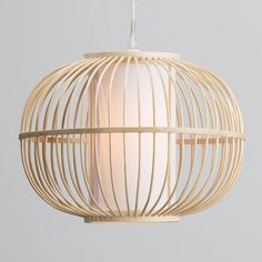 natural wood ceiling light shade - £19