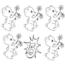 FREE number coloring pages!