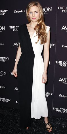 """Brit Marling in Viktor & Rolf (2013 New York City premiere of """"The Company You Keep"""")"""