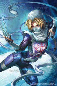 Sheik - Legend of Zelda by nayuki-chan.deviantart.com on @deviantART