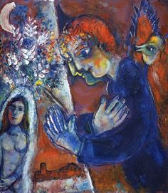 Marc Chagall. Artist at Easel, 1959    Private collection