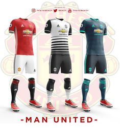 Premier League Concept Kits - All Premier League Kits Redesigned By Qehzy - Footy Headlines Soccer Kits, Football Kits, Premier League Teams, Sports Uniforms, World Football, Baskets, Sports Games, Man United, Sport Wear