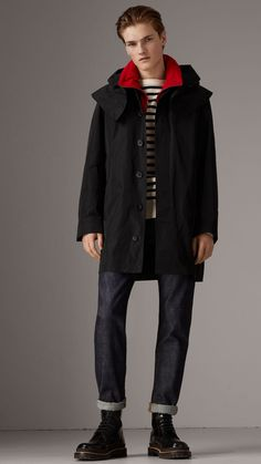 Manteau en taffetas avec gilet sans manches et capuche amovibles (Noir) -  Homme  . Burberry United States be0ee8af48f