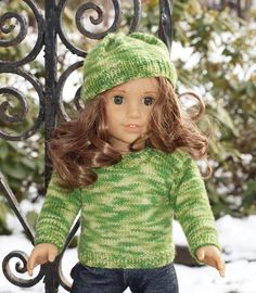 """American Girl Doll Clothes -- 18"""" doll Clothes -  Sweater - Hat. Etsy"""