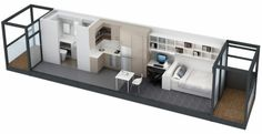 Plane small apartment long