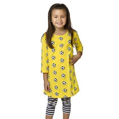 Soccer Ball All-Over-Print A-Line Dress by Svaha