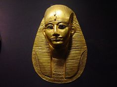 *A GRAVE MASK:  of pharaoh Amenemope of the 21st Dynasty of Egypt.