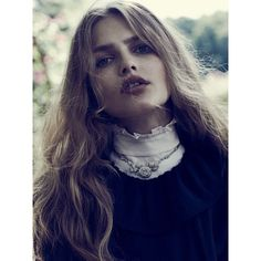 Aneta Pajak by Emma Tempest for Vogue Russia August 2015 Fashion... ❤ liked on Polyvore featuring people
