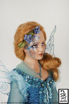 The Blue Fairy - an original art porcelain doll by sinestro (SK ART DOLLS).