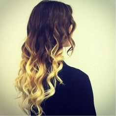 Ombre literally means colour that is graduated from light to dark. There is not much in the way of graduation between the dark & light shades here. And if I had to guess, I'd say those blonde ends are probably pretty damaged.