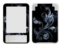 Amazon Kindle 3 ebook Vinyl Skin Cover Art Decal Sticker - Black/Blue Flower by KF Electronics. $6.50. The art decal sticker skin has an upscale leather-like finish to distinguish your reader.