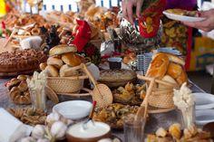 Maslenitsa Russian festival Girls food