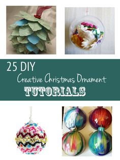25 Christmas Ornament Tutorials!