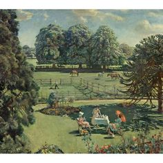 Sir Alfred James Munnings, BRITISH, 1878-1959 FROM MY BEDROOM WINDOW, SUMMER