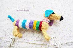Crochet Dog, crochet dachshund, Crochet amigurumi Dog crochet Puppy crochet plush toy crochet animals, crochet stuffed animal вязаная собака by CuteLambKnitting on Etsy