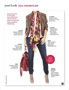 Your Look ~ Full-Figure Flair ~ InStyle magazine ~ October 2012.