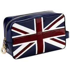 Aspinal of London Brit Medium Cosmetic Case, Navy ($150) ❤ liked on Polyvore
