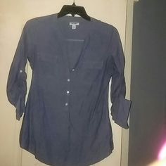 Denim shirt Denim shirt with 3 buttons down the front with splits on the sides Old Navy Tops Tunics