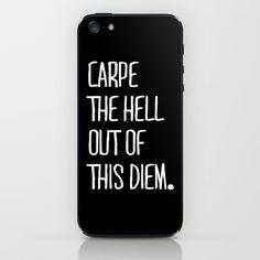 Carpe Diem iPhone & iPod Skin by Pencil Me In ™ - $15.00