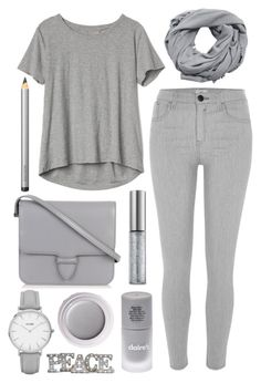 """gray day"" by j-n-a ❤ liked on Polyvore featuring Alaïa, MANGO, River Island, Gap, Laura Mercier, Urban Decay, Shiseido, CLUSE and Grandin Road"