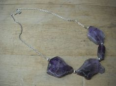 large amethyst stone necklace - jewelry by jamie shea
