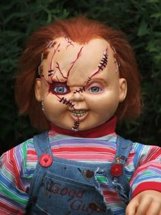 Re: Chucky doll modification WIP Good Work! Halloween Meninas, Chucky Halloween, Halloween Looks, Halloween Costumes For Girls, Adult Halloween, Halloween 2017, Scary Halloween, Halloween Makeup, Chucky Makeup