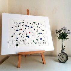 Your place to buy and sell all things handmade Ink Painting, Centre, Abstract Art, The Originals, Handmade Gifts, Artwork, Red, Etsy, Vintage
