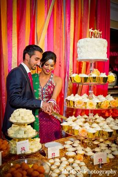An Indian Bride And Groom Celebrate Their Wedding Reception After Traditional Sikh Ceremony The