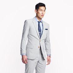 J.Crew: Ludlow suit jacket with center vent in Japanese seersucker