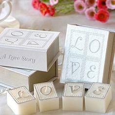 book of love tea light candle set wedding favors