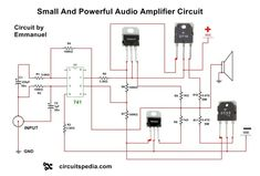 This is powerful 4558 Audio Power Amplifier circuit. In this high power Audio amplifier circuit ,one ic 4558 and 4 Power transistors are used with some discrete components. Simple Electronic Circuits, Electronic Circuit Design, Componentes Smd, Electronics Projects For Beginners, Car Audio Amplifier, Crown Amplifier, Car Audio Installation, Electronic Schematics, Circuit Diagram
